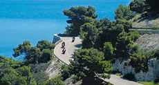 Sicily motorcycle ride on the southern coast of the island