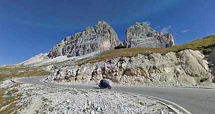 Three Peaks of Lavaredo, a motorcycle ride in the Dolomites