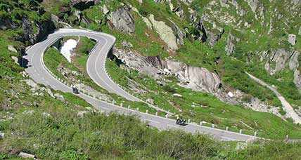 A spectacular motorcycle tour on the Sellaronda circuit road