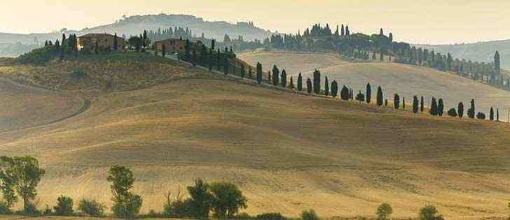 Motorcycle adventures: A motorcycle ride in the singular Crete of Siena, Tuscany 1